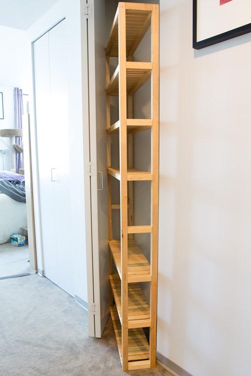 Building A Molger Pantry Shelf An Ikea Hack Meglet